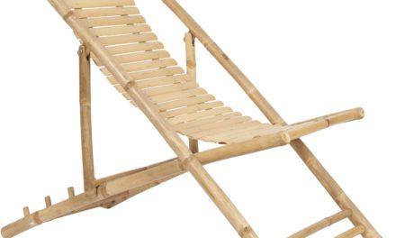Solstol af bambus