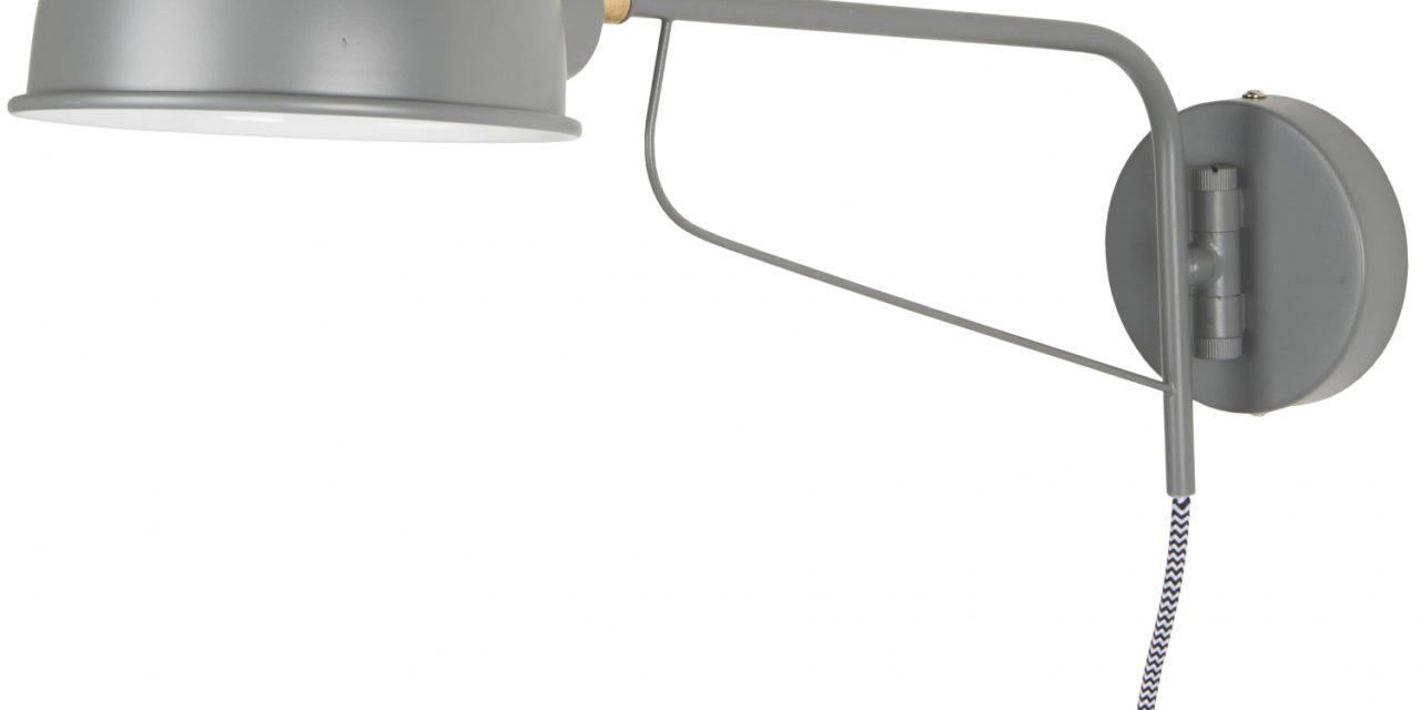 IB LAURSEN væglampe med rund skærm, grå