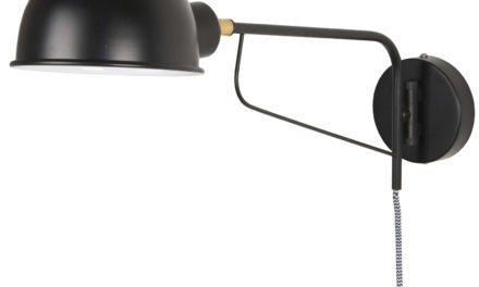IB LAURSEN væglampe med rund skærm, sort metal