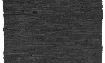 Sort læder gulvløber