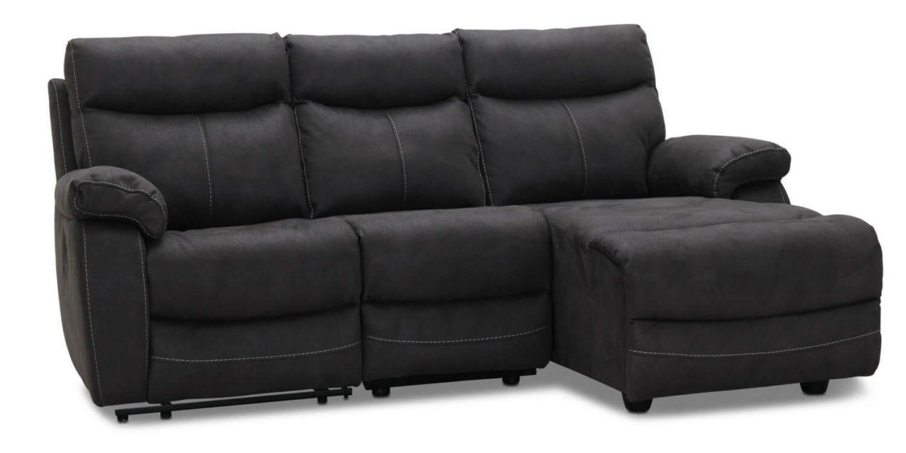 Indiana recliner Biograf sofa med chaiselong højre, grå stof