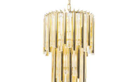 KARE DESIGN Loftslampe, Palazzo Pole Guld Ø35 cm