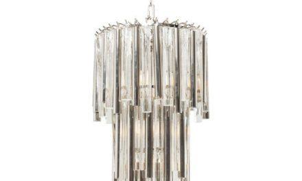 KARE DESIGN Loftslampe, Palazzo Pole Sølv Ø35 cm