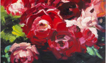 KARE DESIGN Oliemaleri, Roses 100 x 100 cm