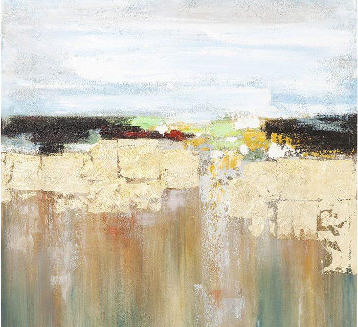 KARE DESIGN Oliemaleri, Abstract Landscape 120 x 120 cm