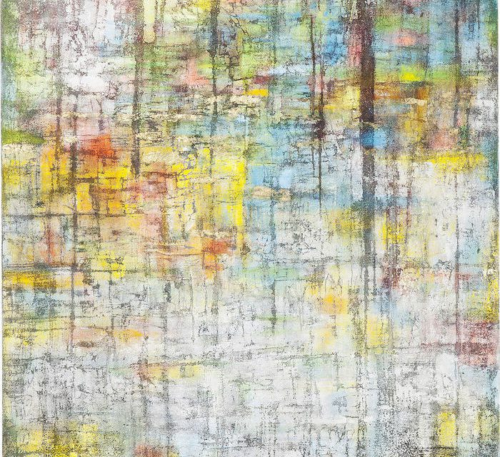 KARE DESIGN Oliemaleri, Abstract Colore 150 x 150 cm