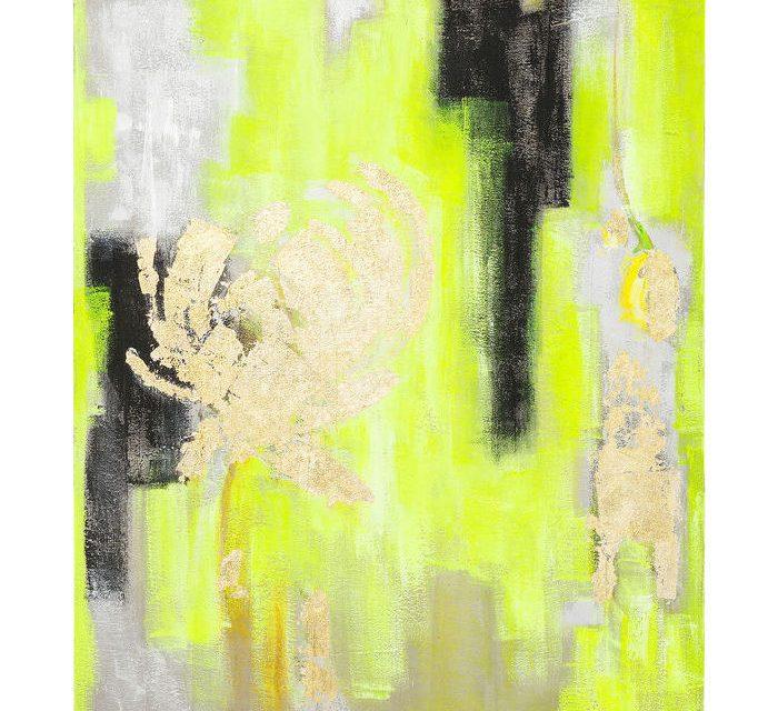 KARE DESIGN Oliemaleri, Yellow-Gold 150 x 120 cm