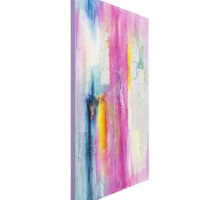 KARE DESIGN Oliemaleri, Pink-Silver 150 x 120 cm