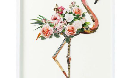 KARE DESIGN Billede, Frame Art Flamingo 100 x 75 cm