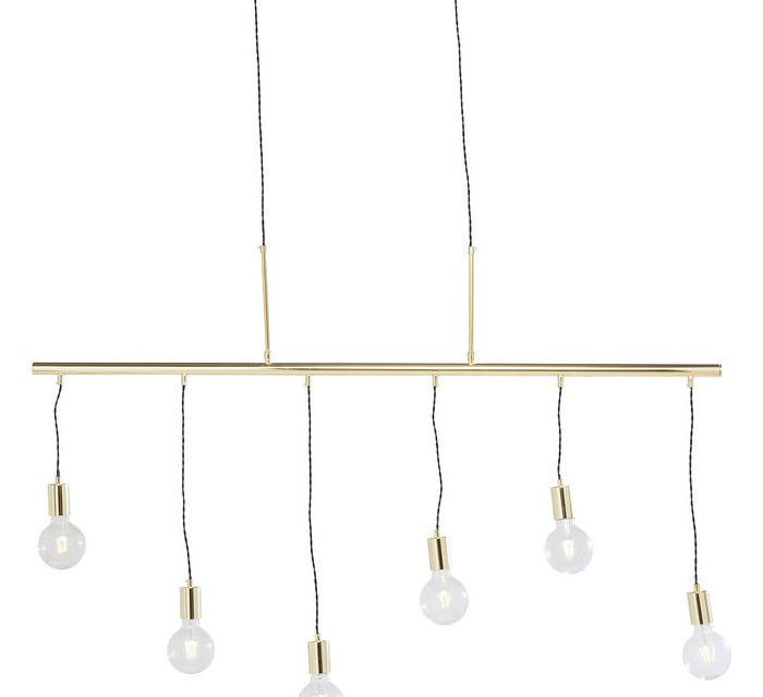 KARE DESIGN Loftslampe, Pole Brass Six