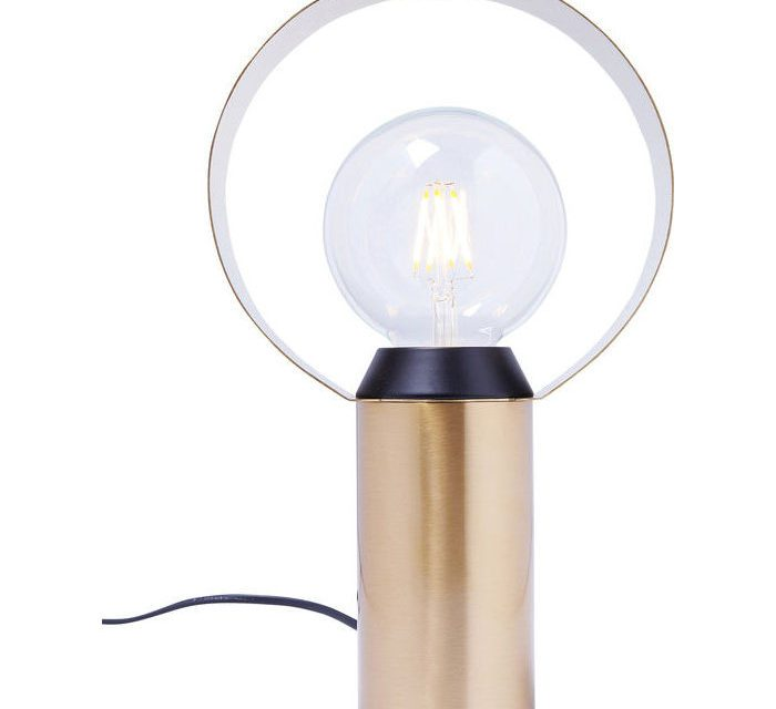 Kare Design Miracle Ring bordlampe i flot messing belagt aluminium