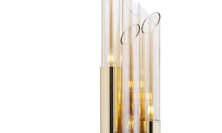 KARE DESIGN Bordlampe, Pipe Guld LED 80 cm