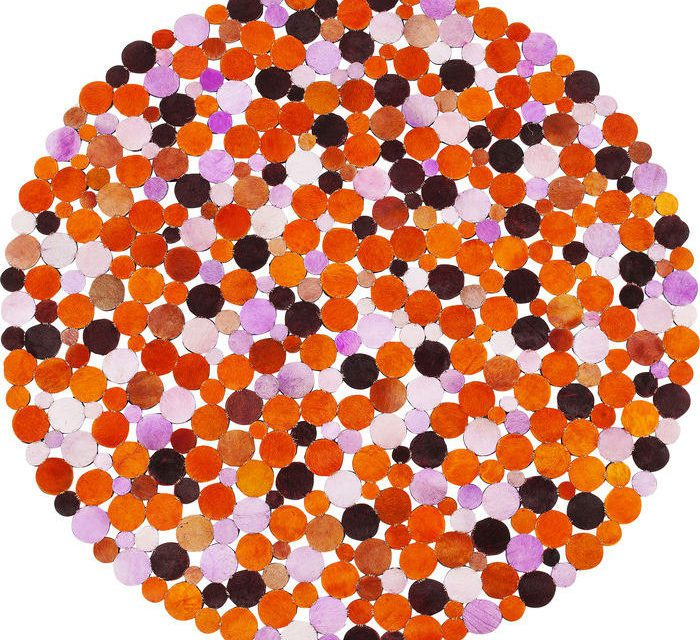 KARE DESIGN Tæppe, Circle Orange Multi Ø150 cm