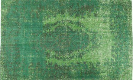 KARE DESIGN Gulvtæppe Kelim Ornament Grøn 240 x 170 cm