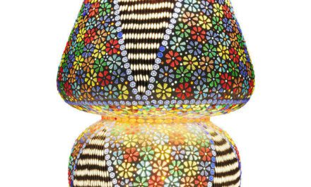 KARE DESIGN Bordlampe, Mosaic Flowers Colore 60 cm