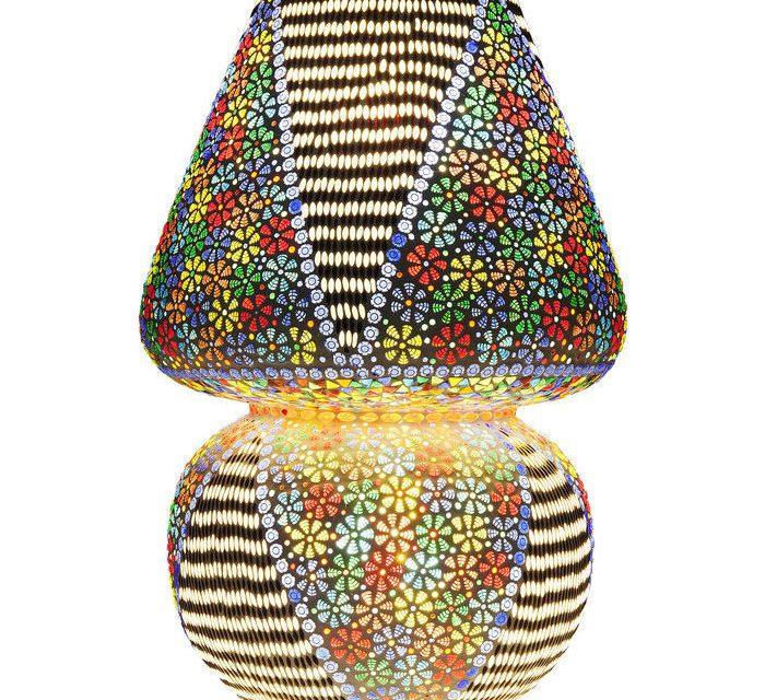 KARE DESIGN Bordlampe, Mosaic Flowers Colore 60 cm