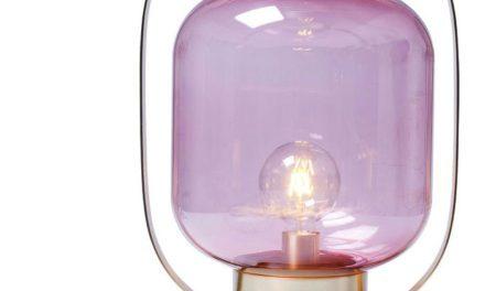 KARE DESIGN Bordlampe Jupiter Pink-Messing
