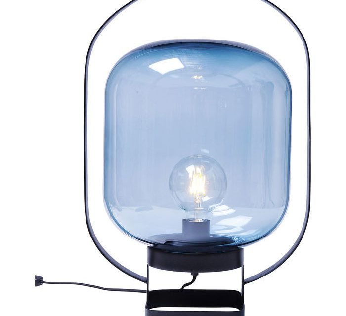 KARE DESIGN Bordlampe Jupiter Blå-Sort