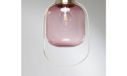 KARE DESIGN Loftslampe Jupiter Pink-Messing