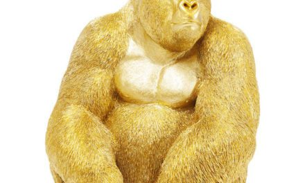 KARE DESIGN Figur, Monkey Gorilla Side Medium Guld