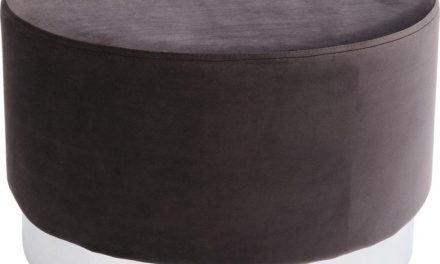 KARE DESIGN Taburet, Cherry Dark Grå Sølv Ø55 cm