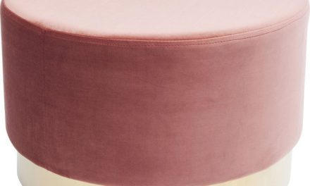 KARE DESIGN Taburet, Cherry Mauve Messing Ø55 cm