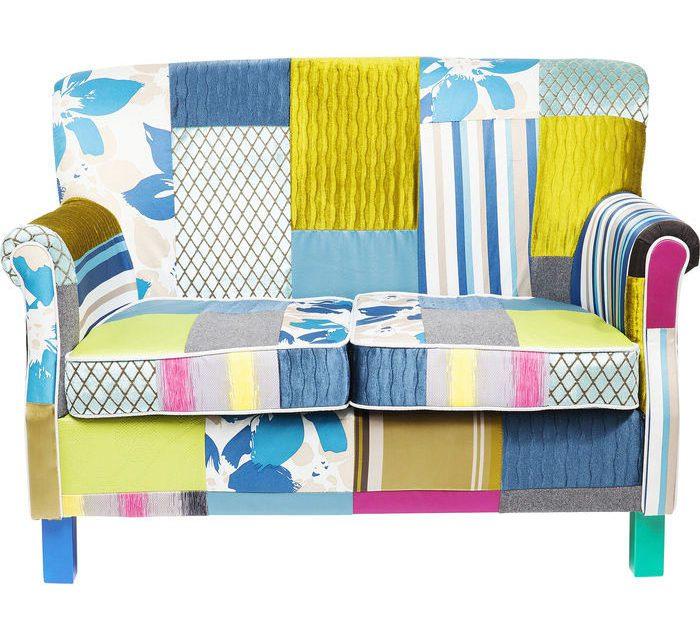 KARE DESIGN Sofa Patchwork Stripes 2-personers