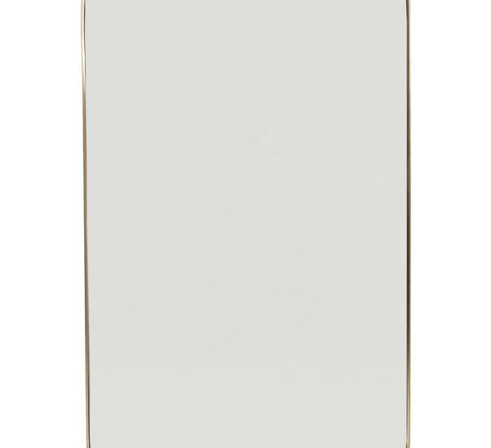 KARE DESIGN Vægspejl Curve Rektangulær Messing 120 x 80 cm