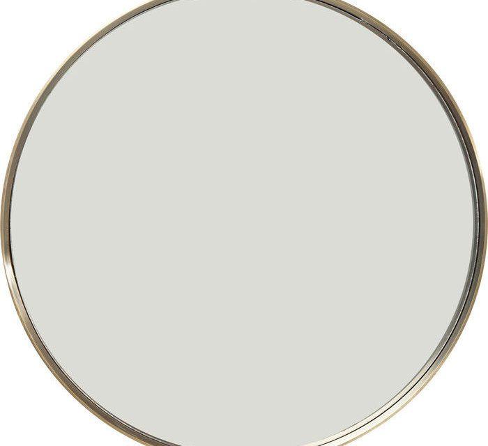KARE DESIGN Vægspejl Curve Rund Messing Ø60 cm