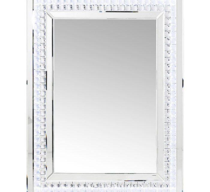 KARE DESIGN Vægspejl Crystals LED 80 x 60 cm