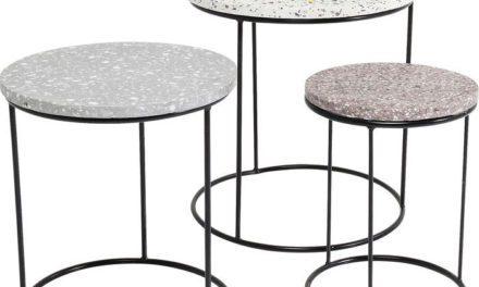 KARE DESIGN Sidebord Terrazzo Round (3/Sæt)
