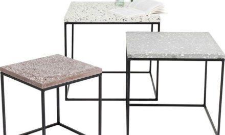 KARE DESIGN Sidebord Terrazzo Square (3/Sæt)