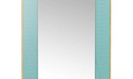 KARE DESIGN Vægspejl Revival Lys Blå 90 x 60 cm