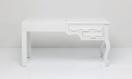 KARE DESIGN Skrivebord Janus All Hvid, 140 x 60 cm. 2 Skuffer
