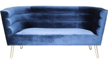 KARE DESIGN Sofa Monaco Blå 2-Personers 160 cm