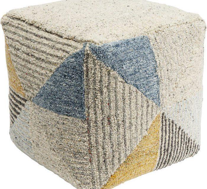 KARE DESIGN Puf, Triangle Stripes 45 x 45 cm