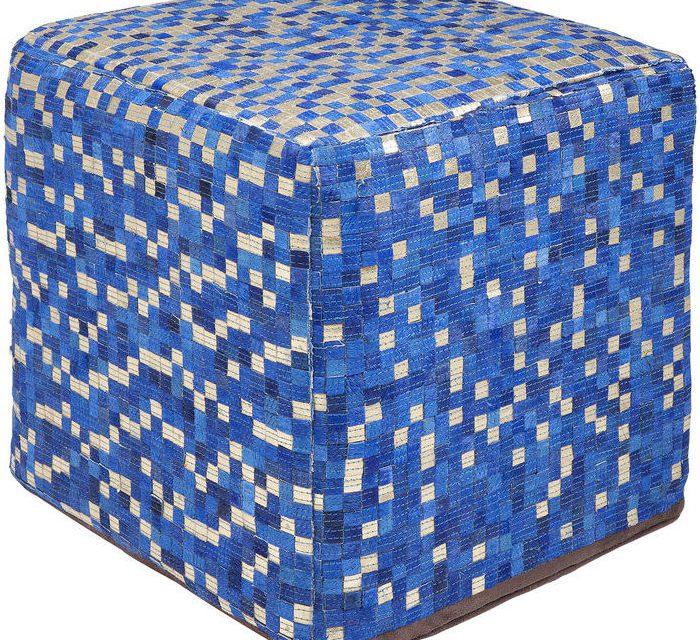 KARE DESIGN Puf, Pixel Blue 40 x 40 cm