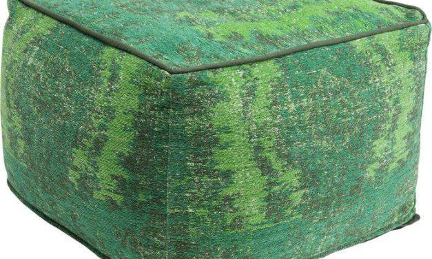 KARE DESIGN Puf, Kelim Ornament Grøn