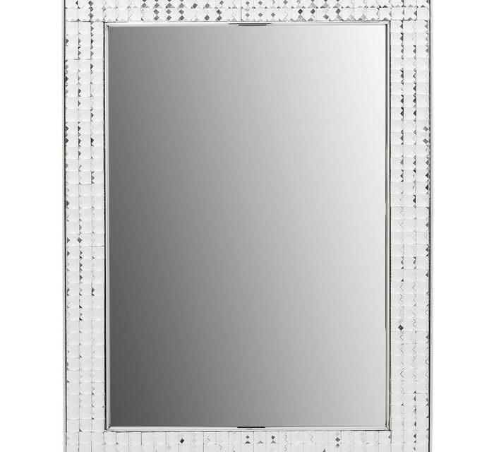 Nu er den her – Smukt Crystals Steel Chrome Vægspejl fra Kare Design