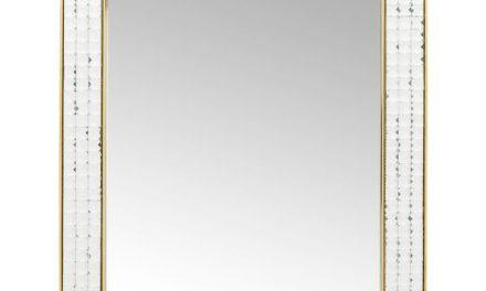 KARE DESIGN Vægspejl Crystals Steel Gold 80 x 60 cm