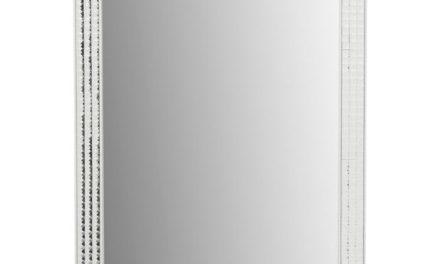 KARE DESIGN Vægspejl Crystals Steel White 80 x 60 cm