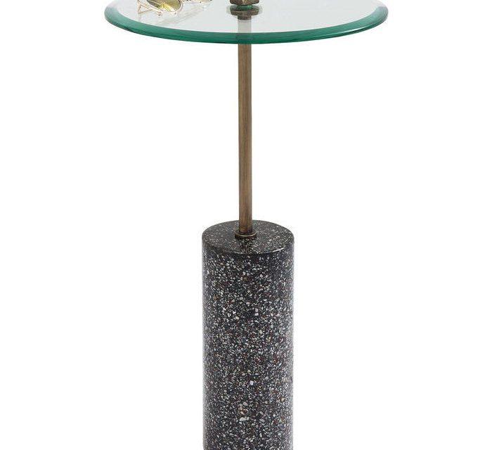 KARE DESIGN Sidebord Terrazzo Visible – Sort 67 cm