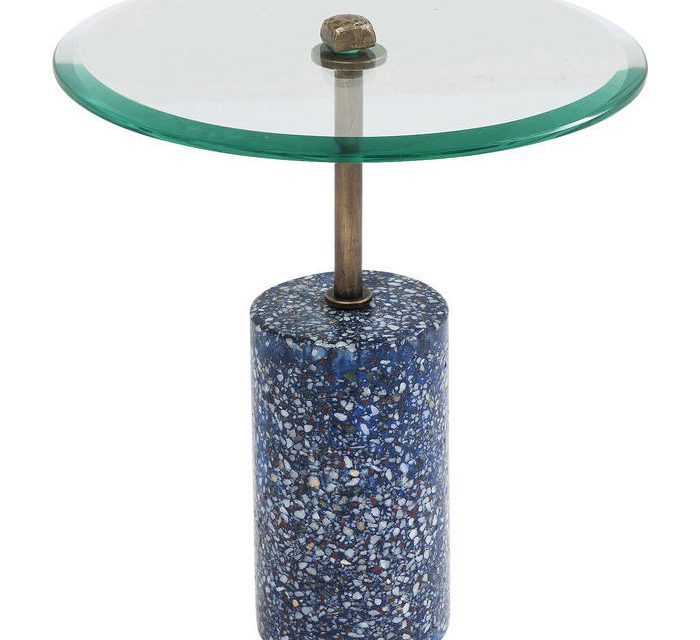 KARE DESIGN Sidebord Terrazzo Visible – Blå 46 cm