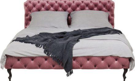 KARE DESIGN Seng Desire Velvet Rosa 160 x 200 cm, Fløjl