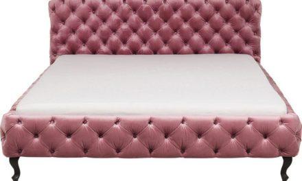 KARE DESIGN Seng Desire Velvet Rosa 180 x 200 cm, Fløjl
