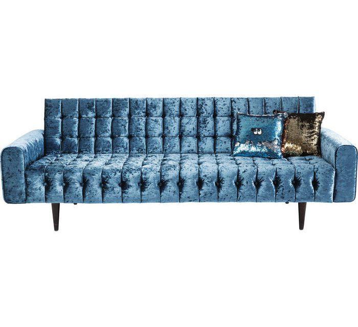 KARE DESIGN Sofa, Milchbar Diva Petrol 3-personers