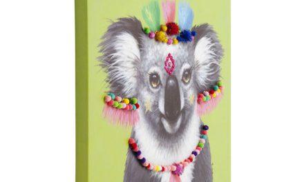 KARE DESIGN Billede, Touched Koala Pom Pom 70 x 70 cm