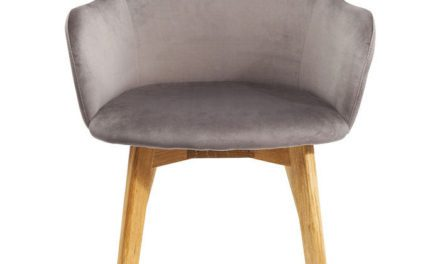 KARE DESIGN Spisebordsstol med armlæn Lady Velvet Grå