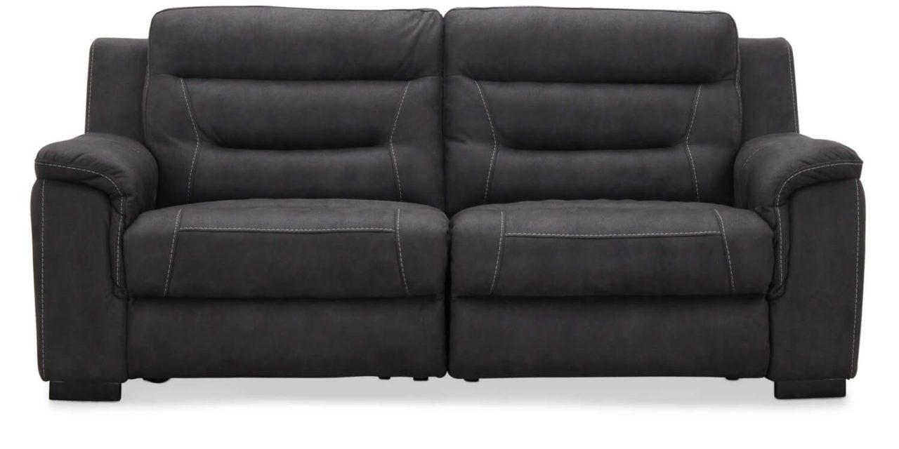HAGA King 2 personers Biograf sofa med el recliner, Grå stof