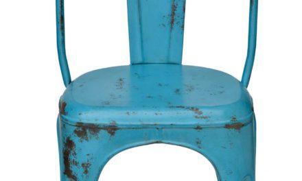 TRADEMARK LIVING Spisebordsstol – Blå med patina